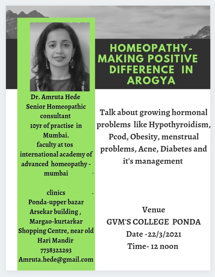 Homeopathy- Making positive difference in aarogya